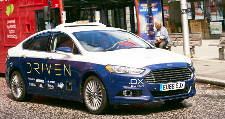 First UK self-driving cars revealed for 2018 road trials