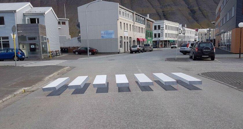 3D zebra crossings slowing motorists down