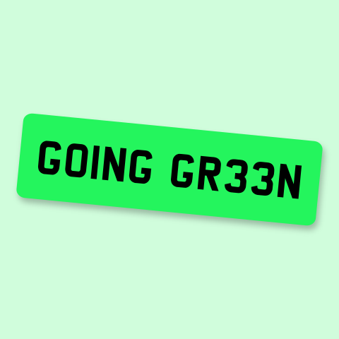 Going green – the new number plates for electric cars