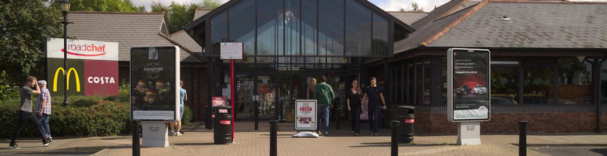 UK service station