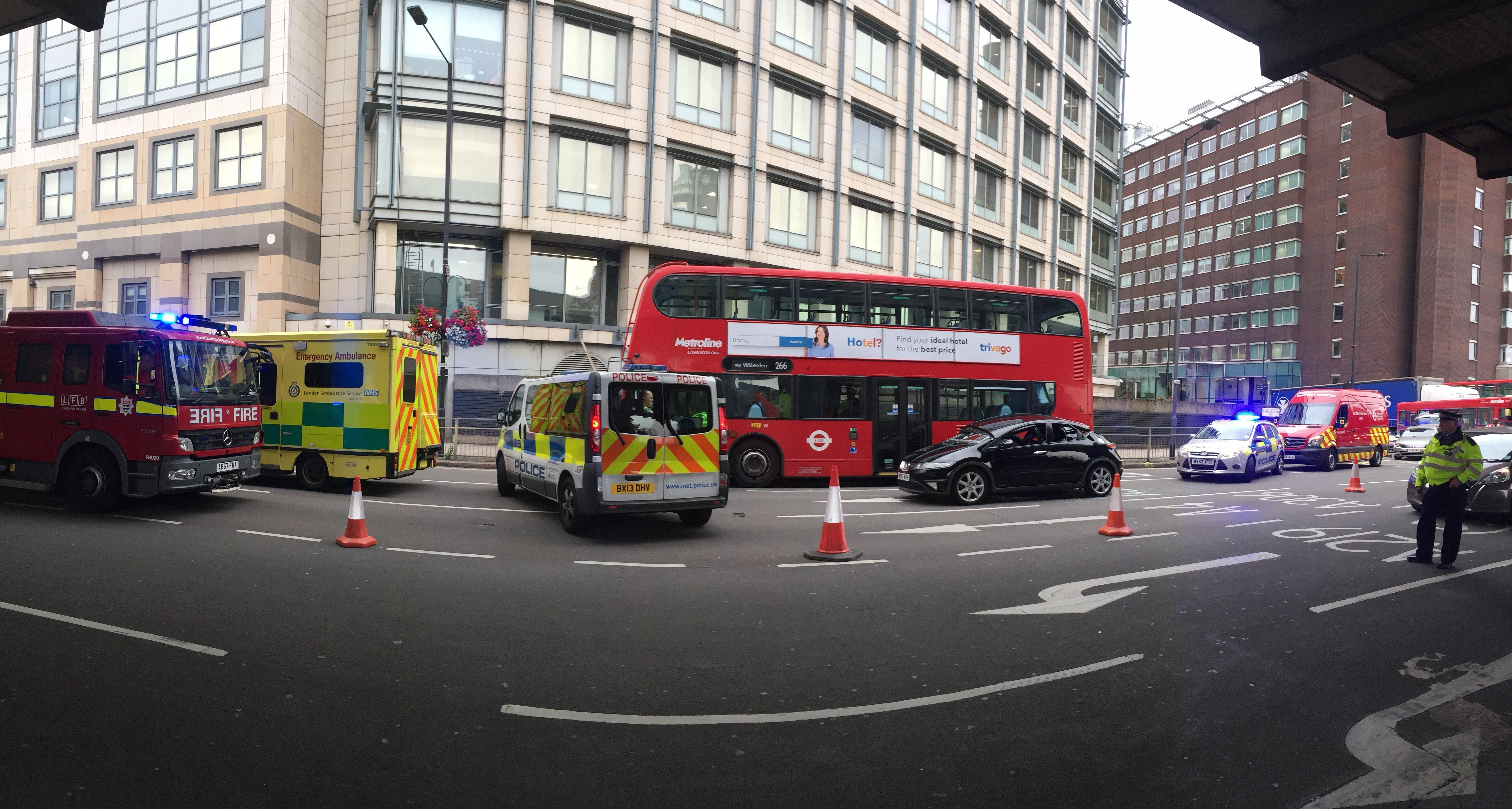 Ambulance stuck in traffic